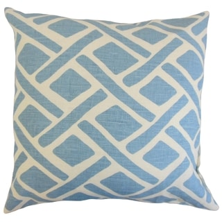 Satchel 18-inch Feather and Down Filled Geometric River Decorative Pillow