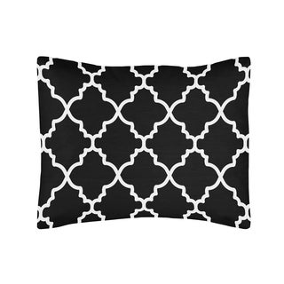 Black and White Lattice Print Pillow Sham for Trellis Bedding Set Collection by Sweet Jojo Designs