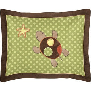 Pillow Sham for Sea Turtle Bedding Set Collection by Sweet Jojo Designs