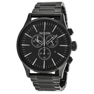Nixon Men's A386001-00 Chronograph Black Quartz Stainless Steel Watch