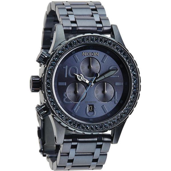 Nixon Women's A4041880-00 Chronograph All Deep Blue Crystal Quartz Watch