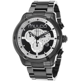 Mulco Men's MW52034020 'Ferro' Black Ion Plated Stainless Steel Chronograph Watch