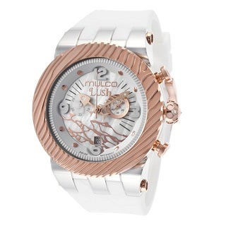 Mulco Men's 'Lush' Rose Gold Plated Stainless Steel Chronograph Watch