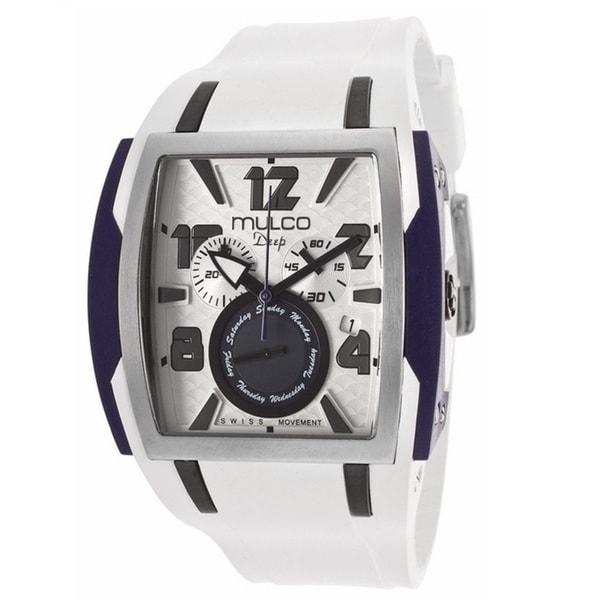 Mulco Men's MW113186014 Deep Square White Band Watch