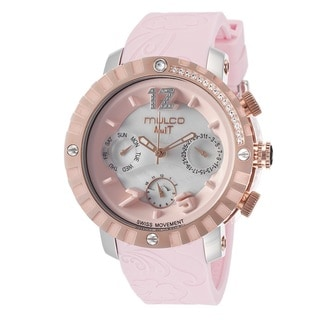 Mulco Women's 'Nuit' Rose Gold Plated Stainless Steel Watch