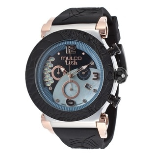 Mulco Men's 'Lush' Stainless Steel And Rose Gold Chronograph Watch