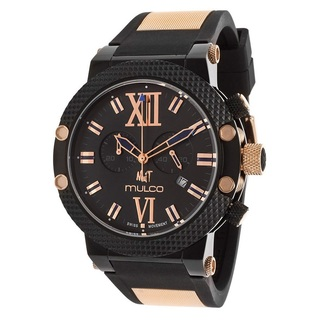 Mulco Men's 'Nuit' Black Ion Plated Stainless Steel Chronograph Watch