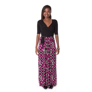 Hadari Women's Abstract Maxi Dress