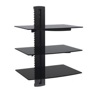 Arrowmounts Aluminum/ Tempered Glass Black Triple Deck DVD Mount 14197141