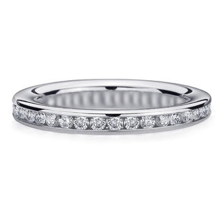 Amore Platinum 1/2ct TDW Channel-set Diamond Wedding Band (G-H, SI1-SI2)