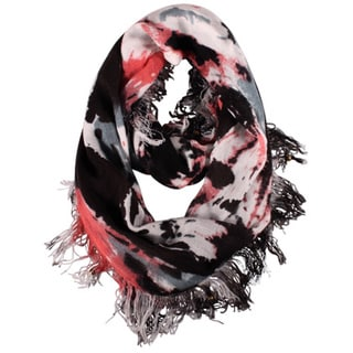 LA77 Black Art Splash Infinity Scarf