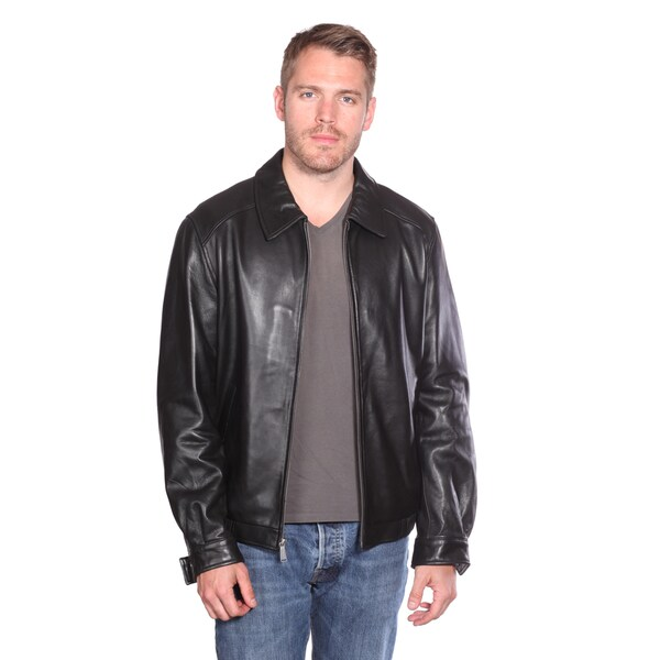 Christian Reed Men's Walden Leather Bomber Jacket 14197358