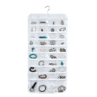 Richards Homewares 80 Pocket Wall Mount Jewelry Holder