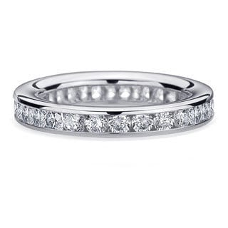 Amore Platinum 1 1/2ct TDW Channel Set Diamond Wedding Band (G-H, SI1-SI2)