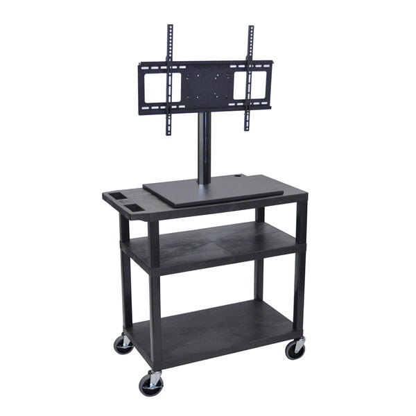 Offex 3-shelf Flat Panel TV Cart with Electrical Assembly