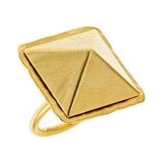 Bita Pourtavoosi Goldtone Pyramid Ring