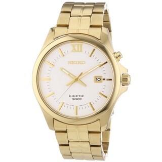 Seiko Men's SKA576P1 Kinetic Goldtone Stainless Steel Watch