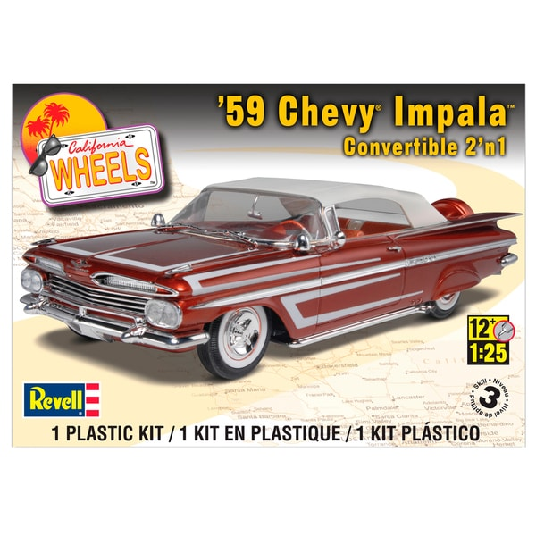 Revell 59 Chevy Impala 1:25 Scale Plastic Model Kit