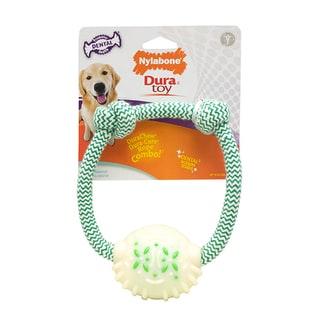Nylabone 7-inch Mint Dental Rope Ring Dog Toy