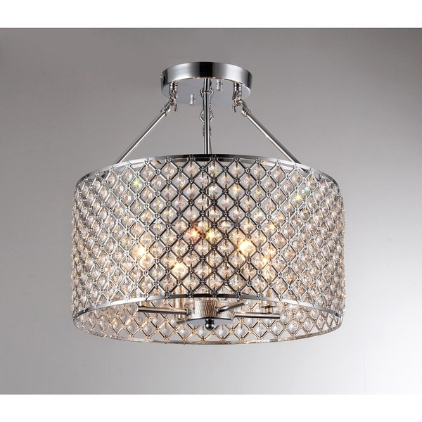 Kirsten Crystal Semi-Flush Mount