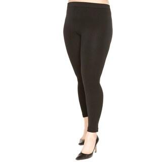 Just One Women's Plus Size Fleece Lined Leggings