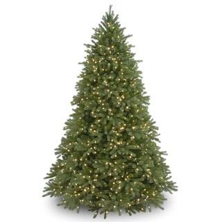 7.5-foot 'Feel-Real' Jersey Fraser Fir Hinged Tree with 1250 Clear Lights - 7.5'