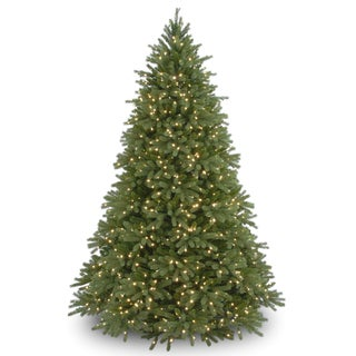 9-foot 'Feel-Real' Jersey Fraser Medium Fir Hinged Tree with 1500 Clear Lights - 9'