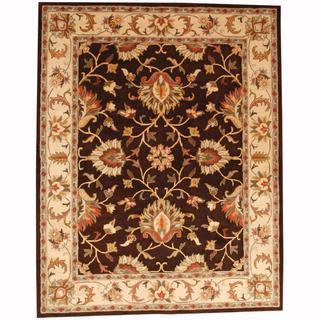 Herat Oriental Persian Indo Hand-tufted Tabriz Brown/ Beige (8' x 10')