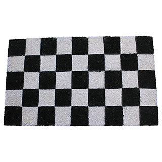 PVC Tufted Check Design Coir Mat (1'6 x 2'6)