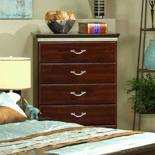 Sandberg Furniture La Jolla Coffee Maple Faux Marble Top 5-drawer Chest