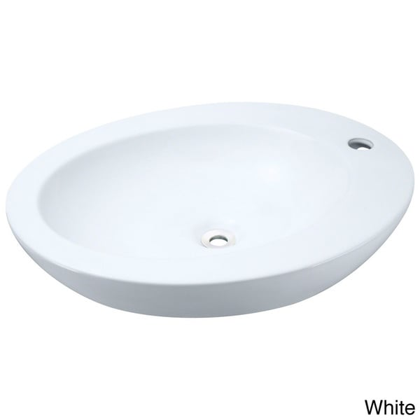 MR Direct v3202 White Porcelain Vessel Sink