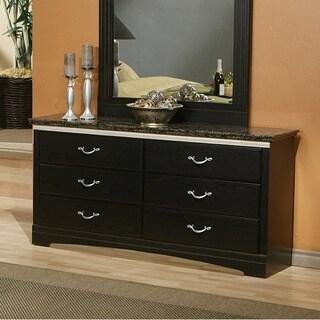 Sandberg Furniture La Jolla Morena Black Marble Dresser