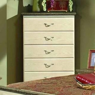 Sandberg Furniture La Jolla Whitewash Weathered Oak Laminate 5-drawer Chest