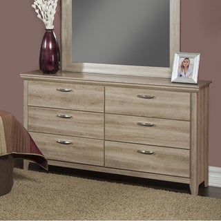 Sandberg Furniture Serina Champagne/ Grey Cherry Oak Dresser