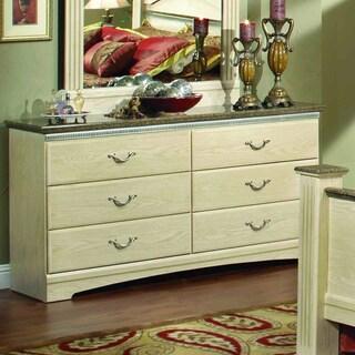 Sandberg Furniture La Jolla Whitewash Weather Oak Laminate Dresser