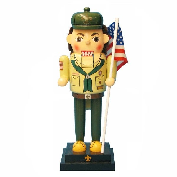 Kurt Adler 12.5-inch Wooden Boy Scout Nutcracker