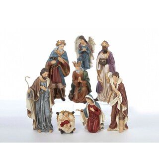 Kurt Adler 9-inch Resin Nativity Set of 8 Pieces