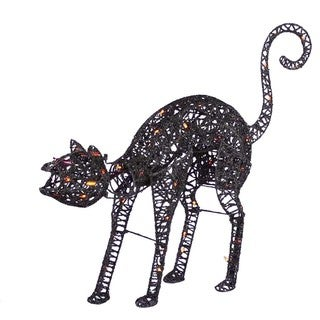 Kurt Adler 50-light 32-inch Lighted Animated Black Cat