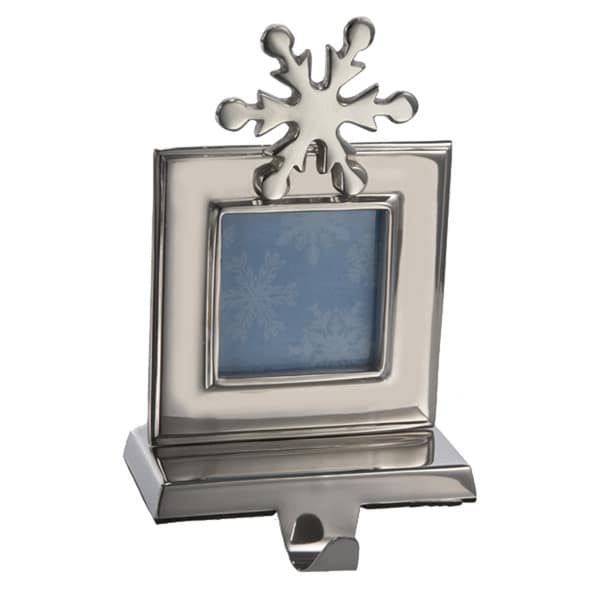 Kurt Adler 9-inch Shiny Silver Photo Frame Stocking Holder