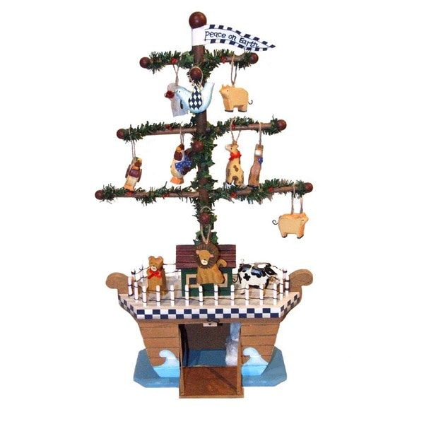 Kurt Adler 21-inch Wooden Noah's Ark Tree