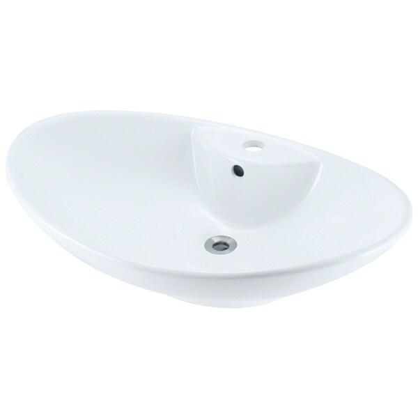 MR Direct v2102 White Porcelain Vessel Sink