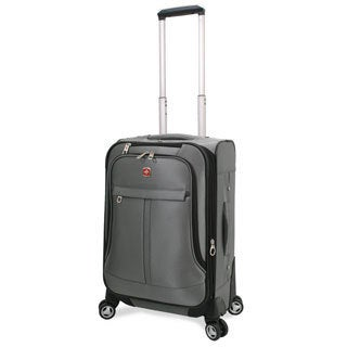 Swiss Alps 20-inch Lightweight Expandable Carry-on Spinner Upright Suitcase