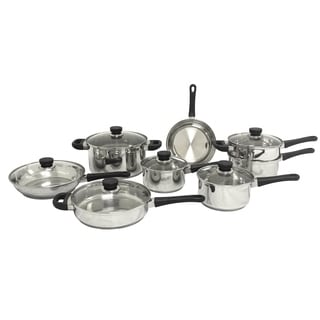 Cook & Co. 14-piece Stainless Steel Cookware set