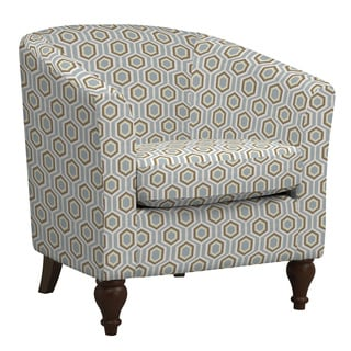 Portfolio Marly Honeycomb Sea Foam Blue Barrel Arm Chair