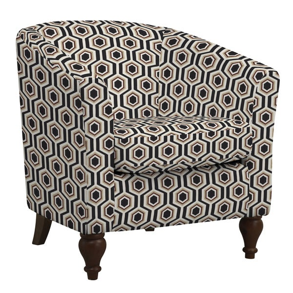 Portfolio Marly Honeycomb Black Barrel Arm Chair