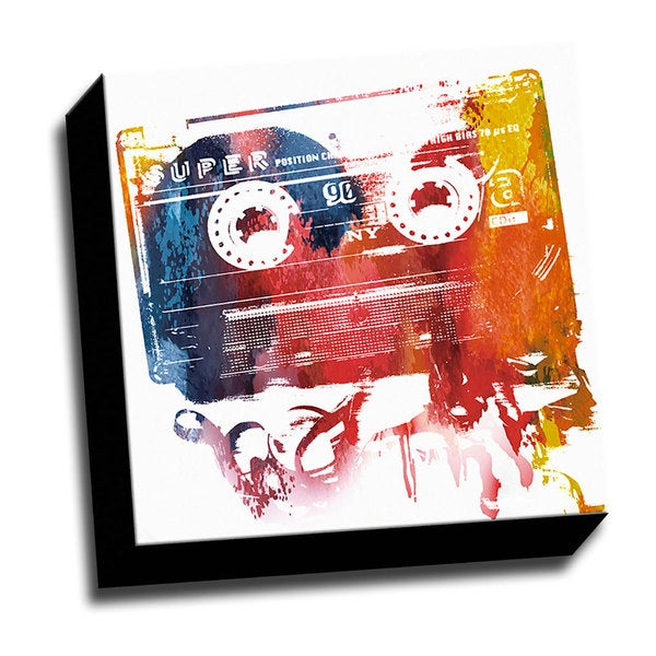 Colorful Cassette Printed Wall Art
