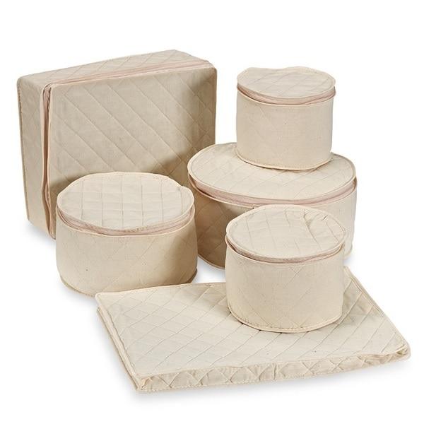 Richards Homewares 6-piece Tabletop Cotton Dinnerware Storage Set