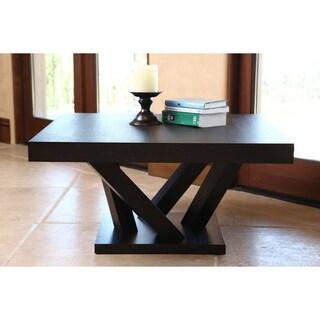 ABBYSON LIVING Cosmo Espresso Wood Square Coffee Table