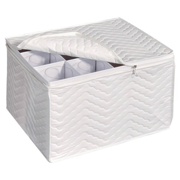 Richards Homewares Tabletop Storage Deluxe Stemware Chest