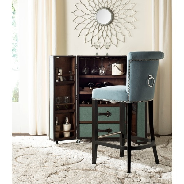 Safavieh 29 7 Inch Addo Sky Blue Bar Stool 16730581